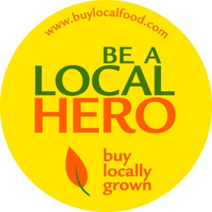 Be a Local Hero, Buy Locally Grown Sticker