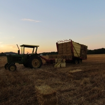 Sunset After Baling Straw